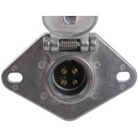 Wholesale Metal Trailer Electrical Socket , 4 Pin Trailer Connector With Lid from china suppliers
