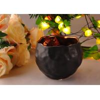Quality Hand Made Custom Ceramic Candle Holder Black Color Two Different Size for sale
