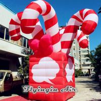 China Customized Christmas Inflatable Candy Cane Box for Christmas Supplies on sale