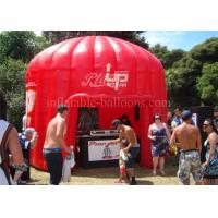 Wholesale Red Air Inflatable Exhibition Tent Dome 1300D PVC With Logo Printing from china suppliers