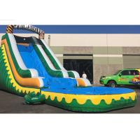 Quality Outdoor Summer Cool Inflatable Water Slide And Pool 9Mx 3M X 5M Easy Installation for sale