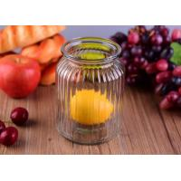 Wholesale Empty Bright Clear Glass Jars / Decorative Wide Mouth Glass Jars Large Capacity from china suppliers
