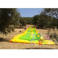 Wholesale Yellow Inflatable Slide The City Water Park / Inflatable Outdoor Games For Party from china suppliers