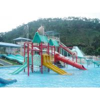 Wholesale Fiberglass / LLDPE Water Slides , Valves Water Playground Equipment For Water Park from china suppliers