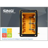 Wholesale Three gang plastic outlet boxes with covers , electrical outlet box from china suppliers