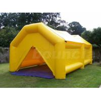 Wholesale 0.9mm PVC  Yellow Color PVC Tarpaulin Inflatable Camping Tent from china suppliers