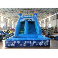 China Small inflatable mini castle water slide The frozen castle inflatable tiny water slide for children under 8 years on sale