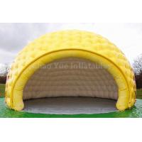 Wholesale PVC Tarpaulin Yellow Inflatable Dome Tent for outdoor event from china suppliers