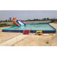 Wholesale Outdoor Above Ground Pool Metal Frame Swimming Pool for water park from china suppliers