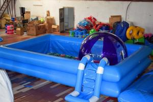 Wholesale Kids Party Custom Inflatable Swimming Pool With Ladder And Full Color Printing Bottom from china suppliers