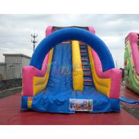 Quality Spongebob Animation Commercial Inflatable Slide 0.55mm PVC Tarpaulin Material for sale
