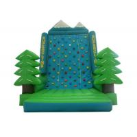 China Green Tree Rock Climbing Wall Inflatable , Sports Games Bounce House With Climbing Wall on sale
