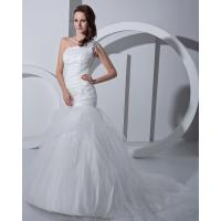 Wholesale Fashion white drop waist Bra Wedding Dresses tulle Princess Wedding Gowns from china suppliers