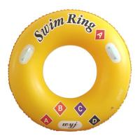 China Newly inflatable swimming ring with funny learning letter for kids, with safe handle in each side on sale