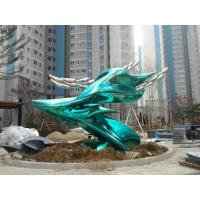 Wholesale Painted Green Famous Abstract Sculptures Size Customized For Garden Decoration from china suppliers