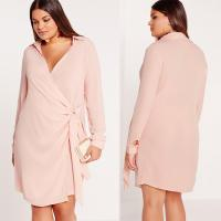 Wholesale New Design Nude Plus Size Shirts & Blouses Sexy Cross Dress from china suppliers