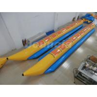 Wholesale 10 Persons Inflatable Banana Boat With 2.0mm PVC Tarpaulin Bottoms from china suppliers
