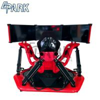 Red 3 Screen 9d Vr Racing Game Machine / Electric System 360 Degree Racing Car Simulator