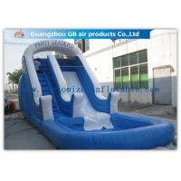China Amusement Park Bounce Round Water Slide Inflatable Slide With Pool on sale