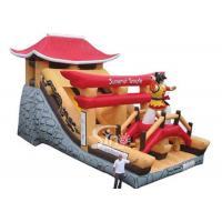 Wholesale Giant Samurai Temple Inflatable Castles With Slide Commercial Grade for outdoor parties from china suppliers