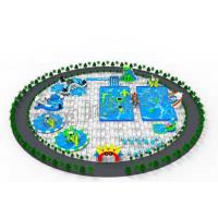 China Giant Toys Equipment Inflatable Water Parks With Airtight And Constant Blower on sale