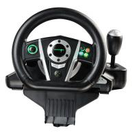Wholesale Black / White Vibration Driving Game Steering Wheel For PC / X-Input / P2 / P3 from china suppliers