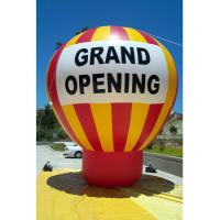 China Giant ground helium inflatable advertising balloon for event promotion grand letter on sale