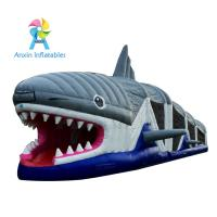 Wholesale China manufacturer amusement inflatable shark obstacle course games for children from china suppliers