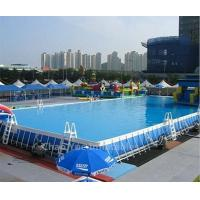 Wholesale Outdoor PVC Above Ground Steel Frame Swimming Pool for summer playing from china suppliers