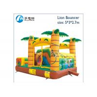 Quality tropical forest small bouncy castle air jumping castle for sale