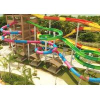 Wholesale Combination Classic Outdoor Pool Slide Fiberglass Galvanized Carbon Steel Frame from china suppliers