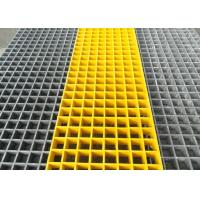 Wholesale Roof Terrace Fibreglass Mesh Flooring , 50 X 50 X 50mm Molded FRP Grating from china suppliers