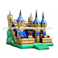 Wholesale Hot Rental Inflatable Dry Slide With Bouncy Castle For Children Park Games from china suppliers