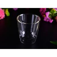 Wholesale Creative Transparent Pyrex Drinking Borosilicate Glass Cup Two Layers , 250ml Capacity from china suppliers