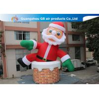 Wholesale 10m Big Inflatable Holiday Decorations / Blow Up Father Christmas from china suppliers