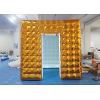 Wholesale Gold Inflatable Photo Booth 2.5 X 2.5 X 2.5 M Two Doors CE Approved from china suppliers