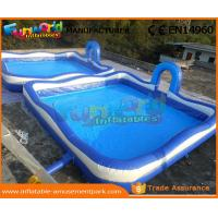 Wholesale Blue Color Giant Inflatable Water Pools With 680W Air Pump 3 Years Warranty from china suppliers