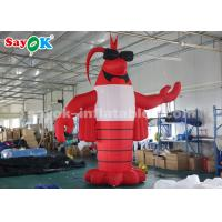 Wholesale 4m Red Outdoor Crawfish Inflatable Cartoon Characters For Lobster Festival from china suppliers