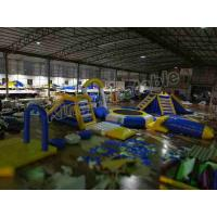 China Outside Large Water Slide Inflatable Water Parks With Floating Trampoline on sale