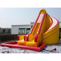 China Outdoor Kids Inflatable Water Slide With Pool / PVC Tarpaulin Water Park Games on sale