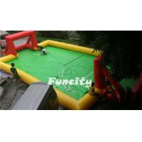 Wholesale Sealed Inflatable Football Games , Inflatable football Pitch for Sport Games from china suppliers