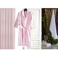 Wholesale Jacquard Comfortable Hotel Luxury Bath Robes , Women's / Mens Luxury Towelling Bathrobe from china suppliers