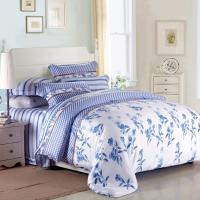 Wholesale Purple Colorem Broidered Flower Home Bedding Sets Tencel Duvet Cover / Sheet Set from china suppliers