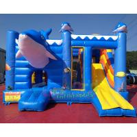 Buy cheap EN14960 Inflatable Bouncer Slide Combo With Hand Pringting Customized Size from wholesalers