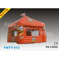 Wholesale Warp-527N  Weft-323.8N Orange Pringles Inflatable Shop Tent YHTT-013 with 500D PVC from china suppliers