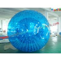 China Inflatable Blue Water Walking Ball , Big Kids Rolling Bubble Ball on sale