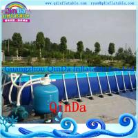 Wholesale PVC tarpaulin metal frame pool,removable metal frame swimming pool from china suppliers