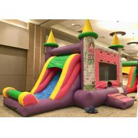 Wholesale Commercial Grade Bounce House Slide Combo , Pink Princess Girls Big Bounce House from china suppliers