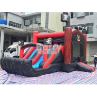Wholesale Pirate Ship Bounce Round Inflatable Combo Slide , Inflatable Bouncers For Kids Party from china suppliers