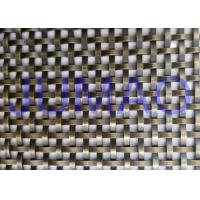 China 8 Mm Unique Bronze Decorative Wire Mesh Cabinet Insert Architectural Doors on sale